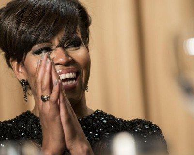 Elizabeth Banks' Whohaha-Michelle Obama Laughing