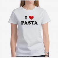 Elizabeth Banks' Whohaha-I Love Pasta T-Shirt