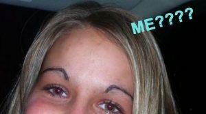Elizabeth Banks Whohaha-Overplucked Eyebrows
